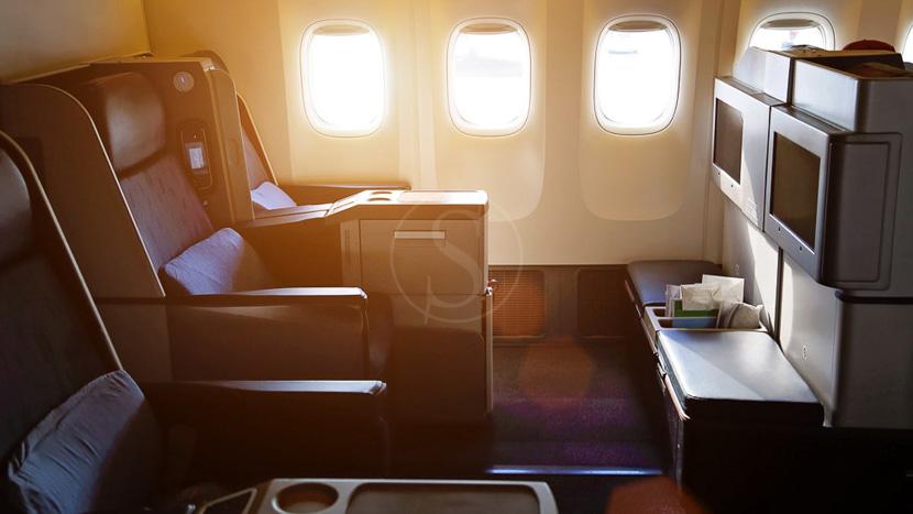 Sur-classement en Classe Affaires, Aérien, Classe Affaires