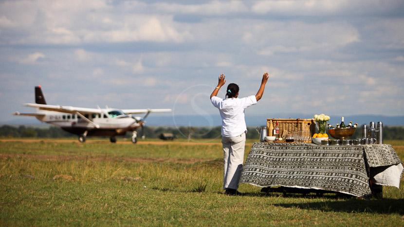 Avion taxi en Afrique, Safari en Tanzanie © &Beyond