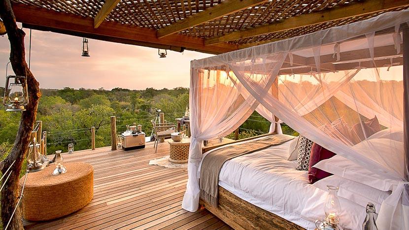 Nuit à la belle étoile , Lion Sands Kingstone Treehouse, Afrique du Sud © More Properties
