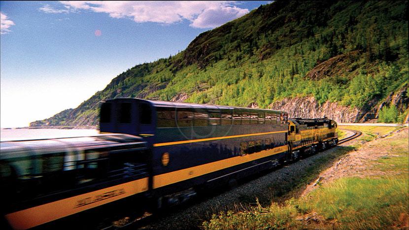 Trajet en train avec Alaska Railroad, Glacier Discovery Train, Alaska
