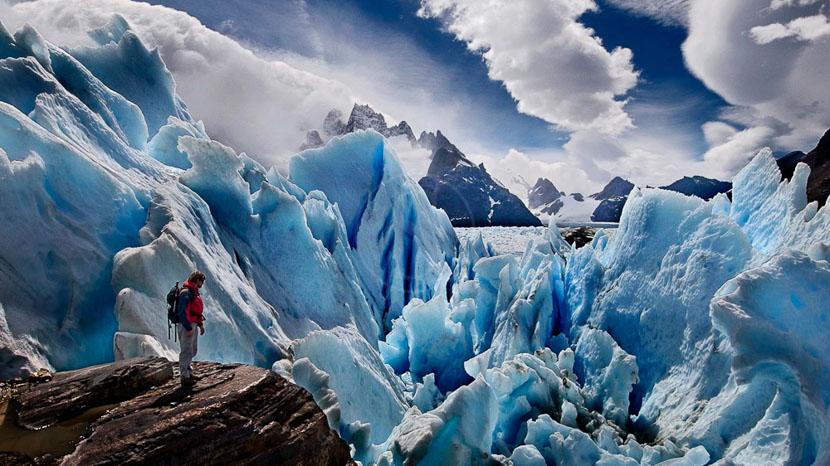 Ice trekking au glacier Perito Moreno, Estancia Nibepo, Argentine