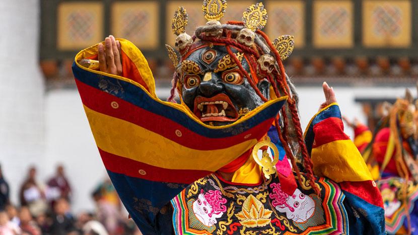 Les festivals au Bhoutan, Festival à Thimphu, Bhoutan © Shutterstock