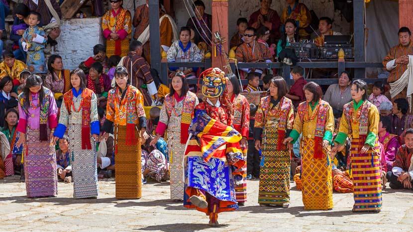 Les festivals au Bhoutan, Festival dans la région de Paro, Bhoutan © Shutterstock
