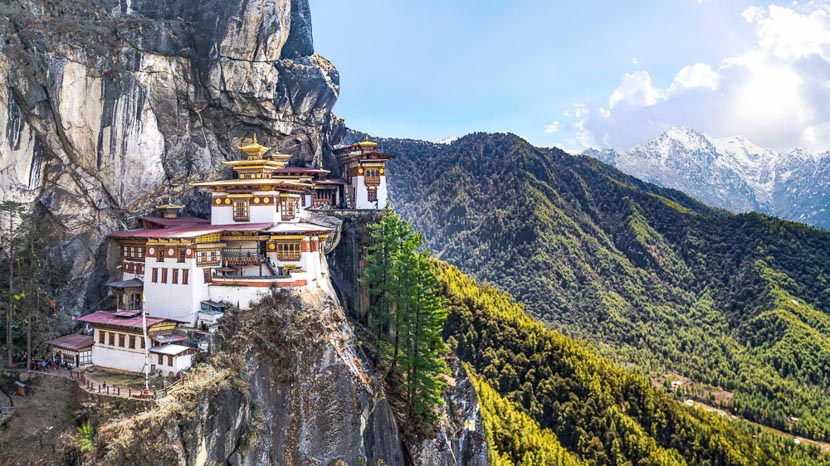 Taktshang, Monastère de Taktshang, Tiger's Nest, Bhoutan © Shutterstock