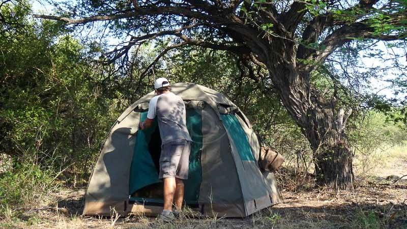 Safari en campement itinérant semi-participatif, Safari en campement itinérant, Botswana © Tous droits réservés