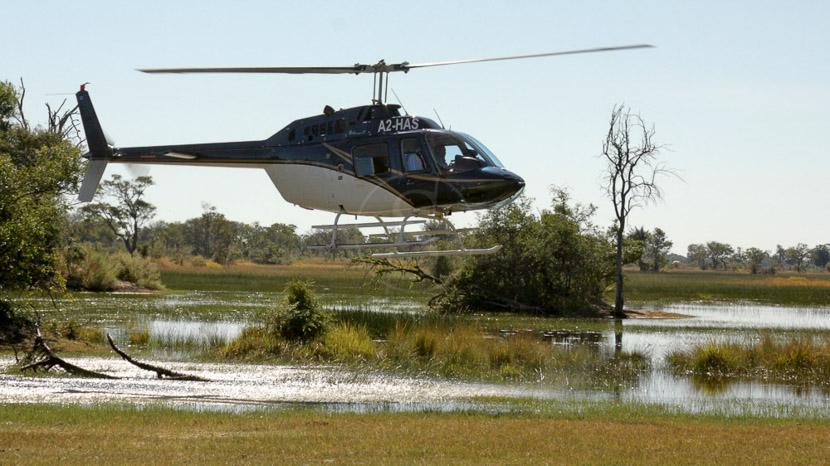 Safari en hélicoptère à Linyanti, Safari à cheval dans le Delta de l'Okavango