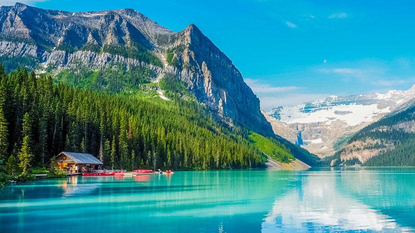 Alberta, Lac Louise dans l'Alberta, Canada