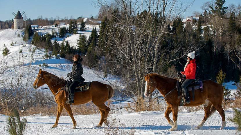 Equitation à l'auberge Le Baluchon, Auberge Baluchon Equitation, Canada
