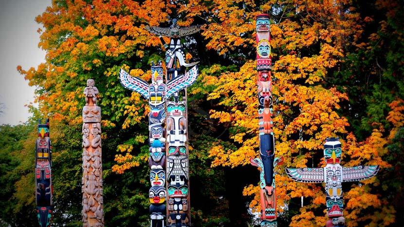 La culture amérindienne de l'Ouest canadien, Ville de Vancouver, Canada