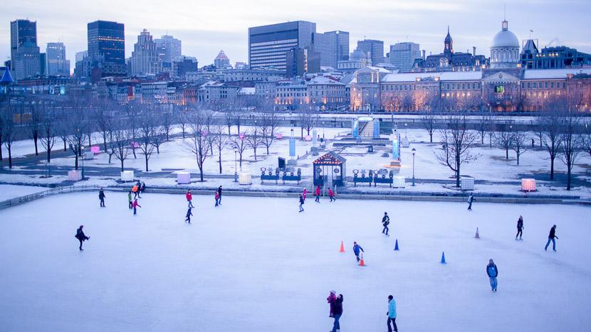 L'hiver au Québec, Patinoire du Vieux-Port de Montréal, Canada © Office Tourisme