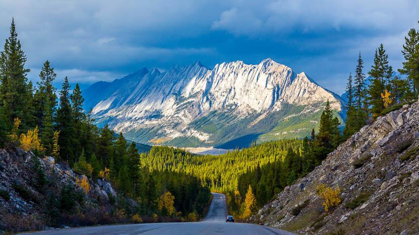 Parc national de Jasper, Rocheuses canadiennes vers Jasper, Canada