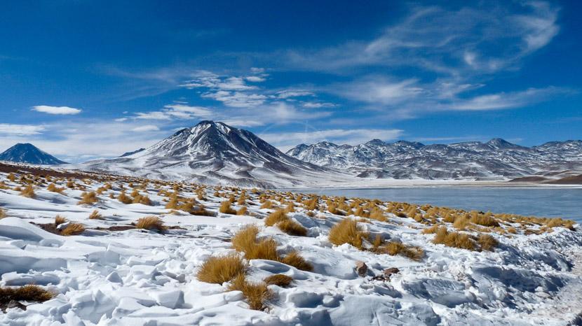 Lagunes altiplaniques, Désert de l'Atacama en hiver, Chili