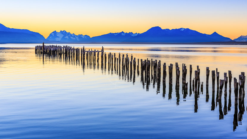 Croisière d'expédition en Patagonie à bord de l'Ultramarine, Almirante Montt Golf à Puerto Natales, Chili