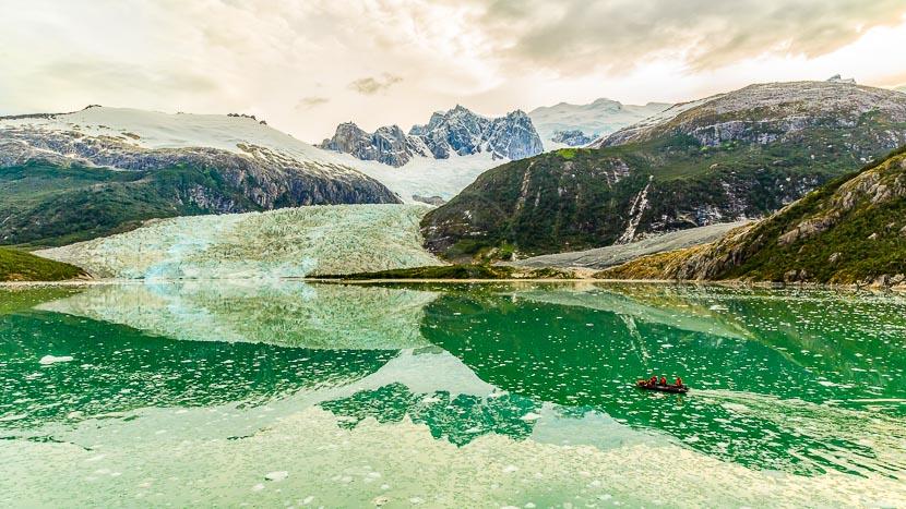 Croisière d'expédition en Patagonie à bord de l'Ultramarine, Glacier Pia en Terre de Feu, Chili @ Shutterstock