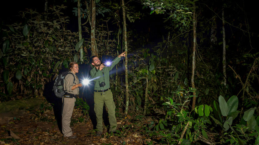 Safari de nuit à Odzala, Odzala Discovery Camps © Dana Allen