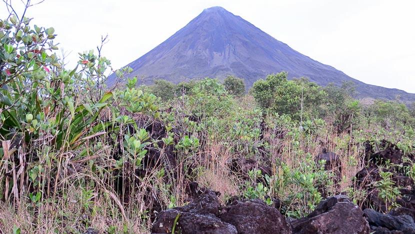 Randonnée sur le volcan Arenal, Observation des coulées de lave à Arenal, Costa Rica