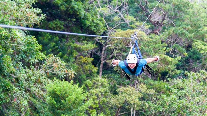 Accro-branche dans les hauteurs à Boquete, Accrobranche à Monteverde, Costa Rica