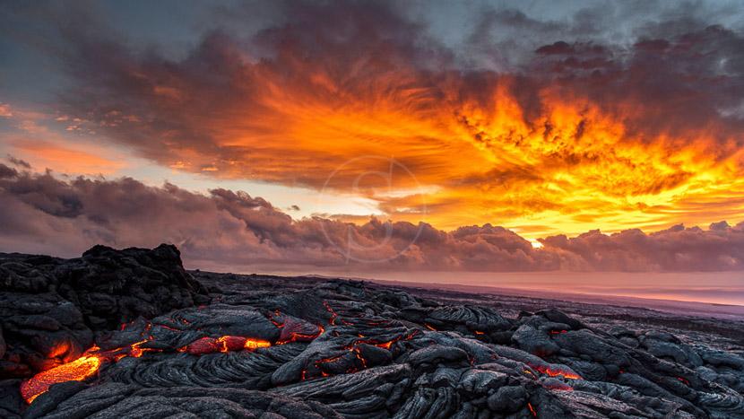 Le Parc National des volcans d'Hawaï, Volcan Kilauea, Hawai © Shutterstock