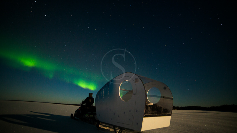 Observation des aurores en luge Aurora aux Wilderness hotels, Sleigh, Finlande