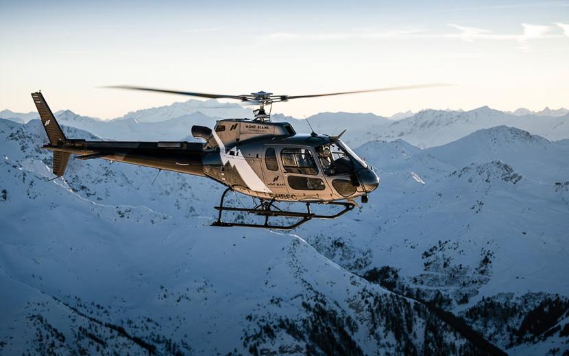 Massif du Mont Blanc en hélicoptère, Sur du massif du Mont Blanc © Mont Blanc Hélicoptères
