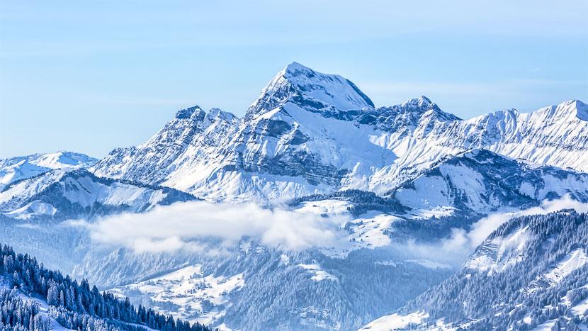 Massif du Mont Blanc en hélicoptère, Région du Mont Blanc, France © Shutterstock