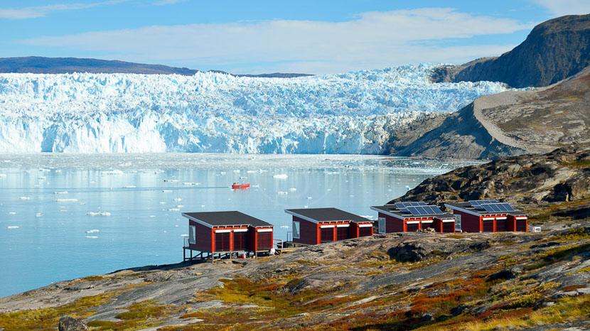 Eqip Sermia, Glacier Lodge Eqi, Groenland