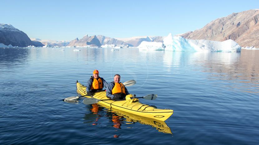 Faire du kayak nordique, Croisière au Groenland © Quark Expeditions