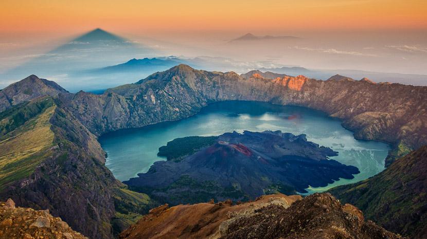 Ascension du Mont Rinjani, Lombok Mont Rinjani, Indonésie