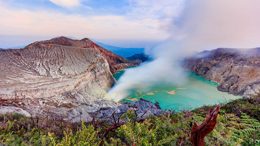 Les volcans de l'est de Java, Kawah Ijen, Java, Indonésie