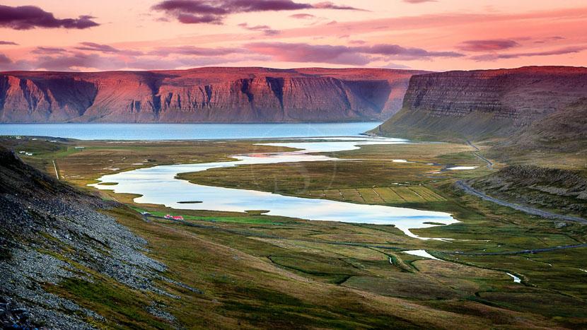 Les fjords de l'ouest, Westfjords, Islande © Sstock