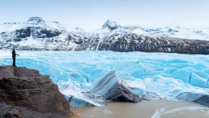 Randonnée glaciaire, Svinafellsjokull, Islande © Sstock