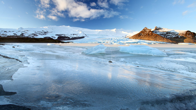 Randonnée glaciaire, Vatnajokull, Islande © Sstock