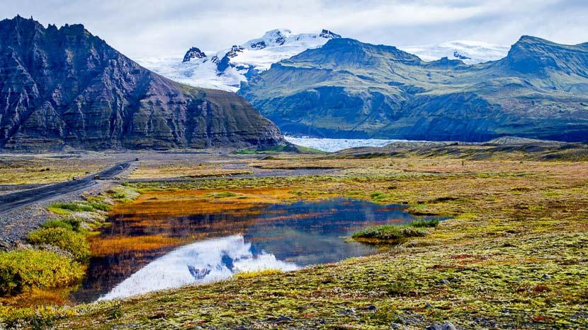 Glacier Svínafellsjökull, Svinafellsjokull, Islande © Sstock