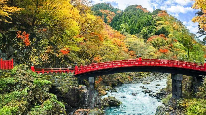 Nikko, Pont de Shinkyo à Nikko, Japon