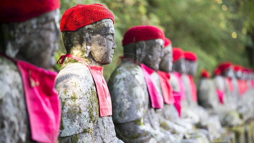 Nikko, Jizos de Kanmangafuchi à Nikko, Japon