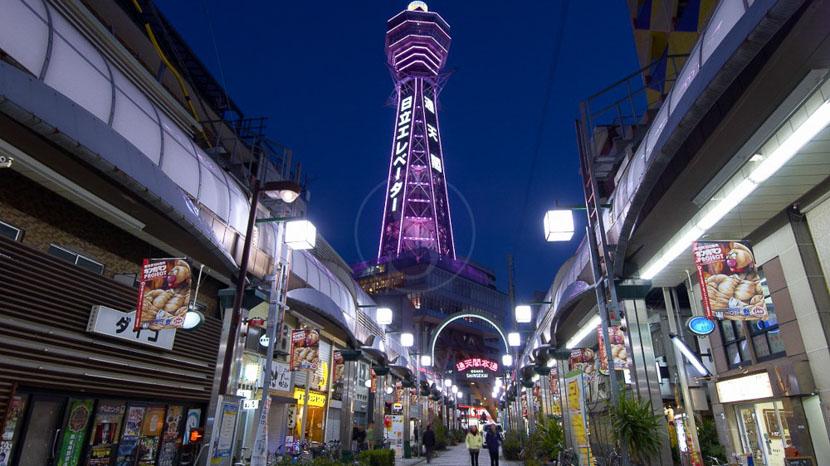 Osaka, Tour Tsutenkaku à Osaka, Japon © jnto