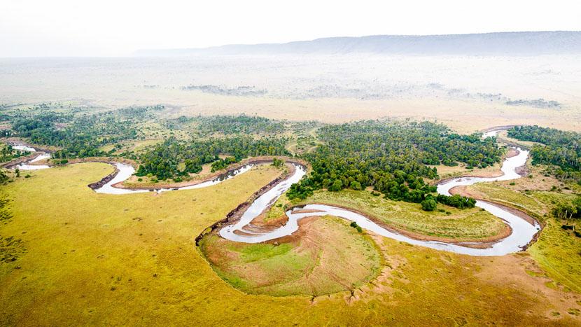 Survol en montgolfière dans le Masai Mara, Sanctuary Olonana, Kenya
