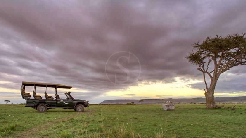 Safari en 4x4 dans le Masai Mara, Kichwa Tembo Masai Mara, Kenya © &Beyond / Stevie Mann