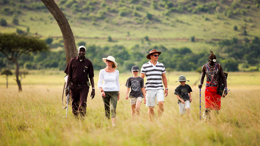 Safari à pied dans le Masai Mara, Kichwa Tembo Masai Mara, Kenya © &Beyond / Stevie Mann