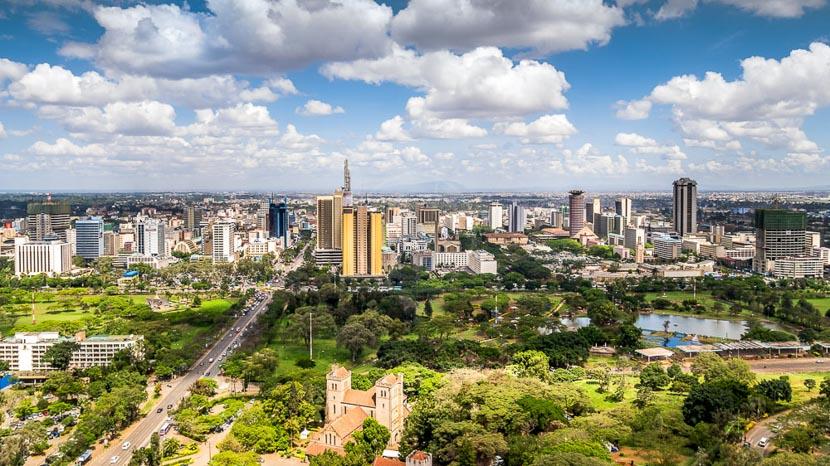 Nairobi, Vue de Nairobi, Kenya