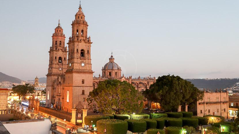 Les villes coloniales au patrimoine mondial, Eglise de Morelia, Mexique