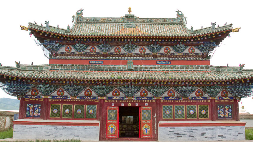 Visite du monastère bouddhiste d'Erdene Zuu, Karakorum, Mongolie