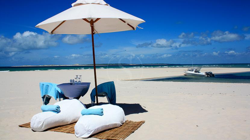 Journée sur un banc de sable désertique, Presidential Villa Azura Lodge, Mozambique