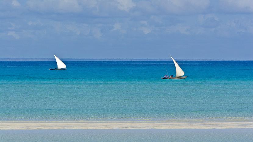 Safari en dhow autour de l'île d'Ibo, Medjumbe Island, Quirimbas, Mozambique