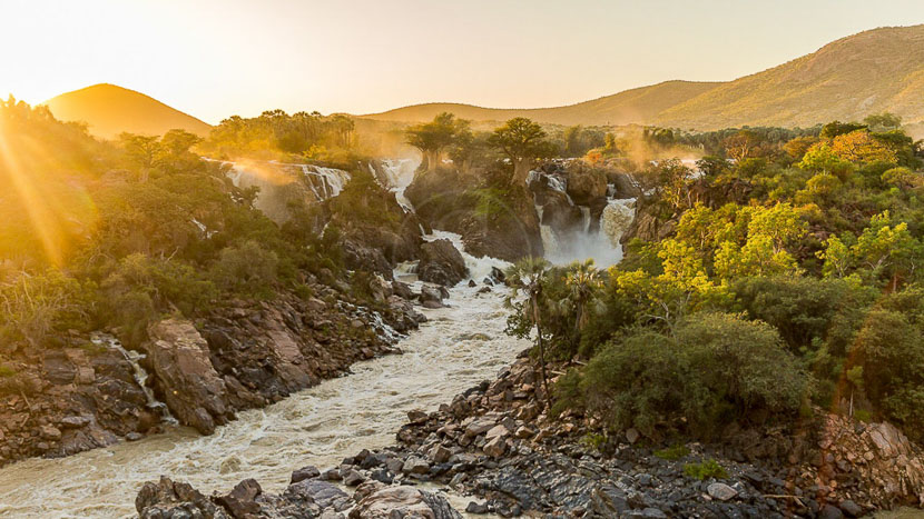 Les chutes d'Epupa, Epupa Falls, Namibie