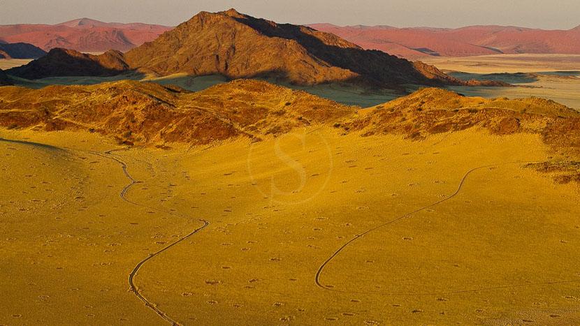 La Namibie vue du ciel, Survol du Namib en ballon, Namibie