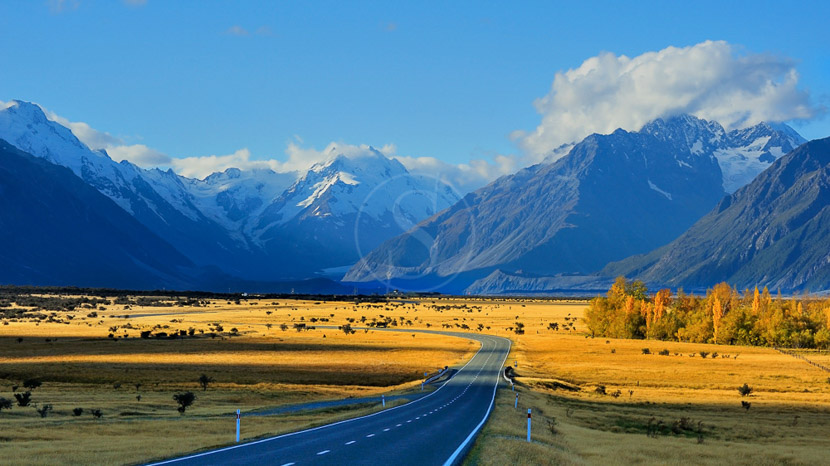Parc national Aoraki/Mount Cook, Mount Cook, Nouvelle Zélande © Shutterstock