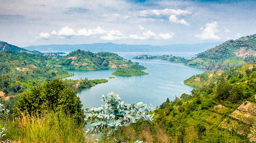 Lac Kivu, Vue sur le Lac Kivu, Rwanda