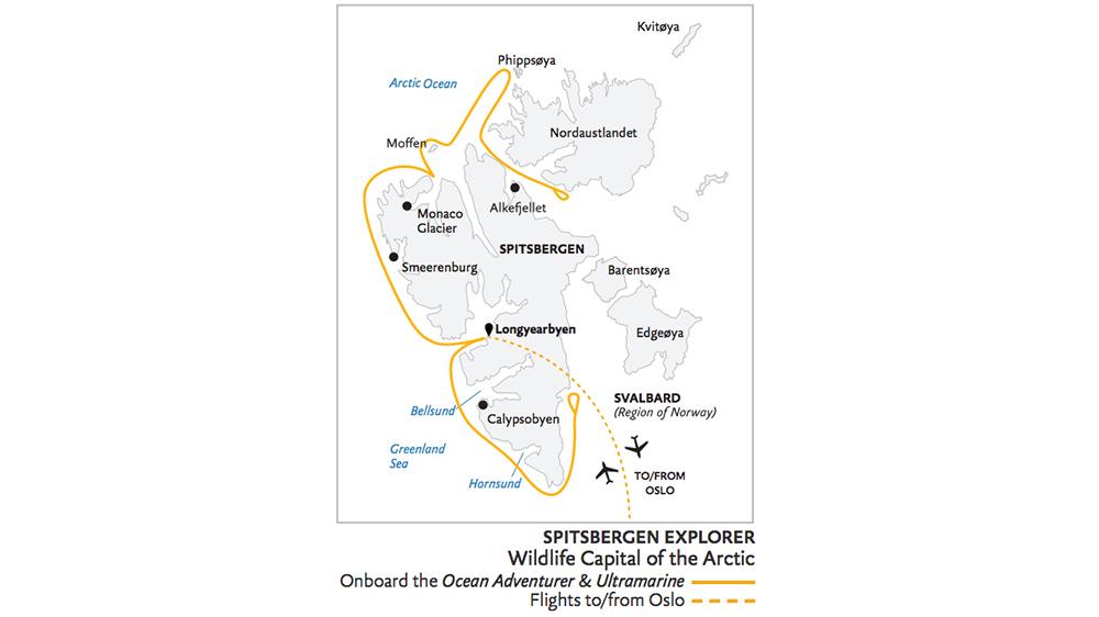 Exploration du Spitzberg et faune sauvage de l'arctique,