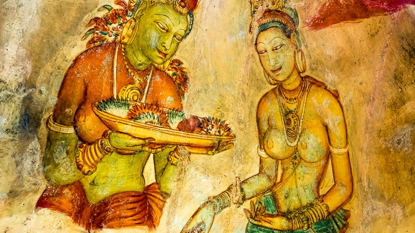 Triangle culturel, Peintures à Sigiriya, Sri Lanka
